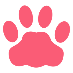 Pet monochrome paw flat