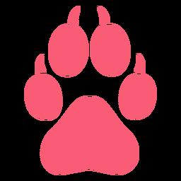 Mascotas pata monocromática plana