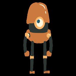 Carácter de robot cíclope del tamaño de una píldora