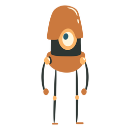 Pill sized cyclope robot character