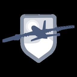 Logotipo de decolagem de avião