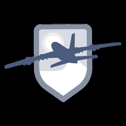 Avión despegando logo Transparent PNG