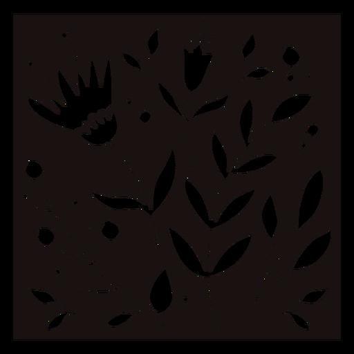 Plants flowers composition stencil