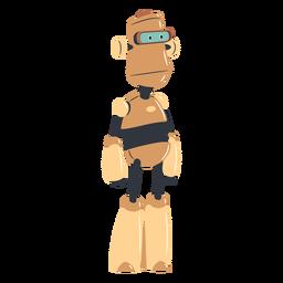 Personaje de robot con cara de póquer