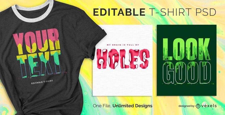 Paint drip scalable t-shirt psd