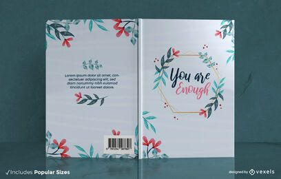 You are enough book cover design