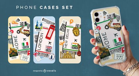 Travel phone case set