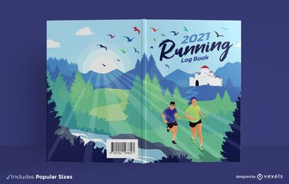 2021 running log book cover design