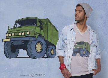 Diseño de camiseta de camión grande