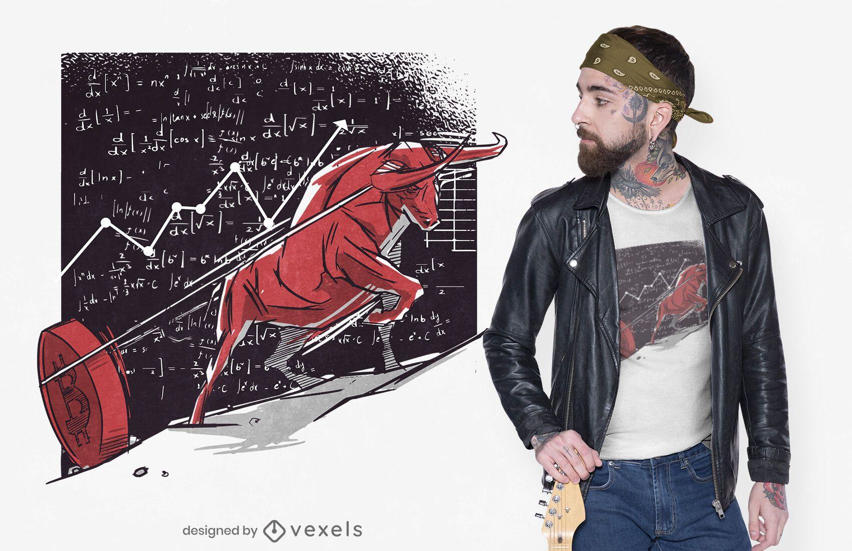 Stock market bitcoin t-shirt design