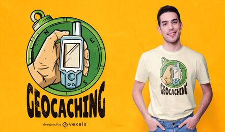 Design de camiseta Geocaching