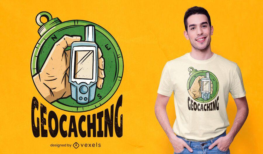 Design de camiseta Geocaching