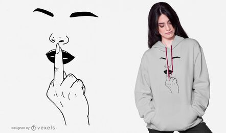 Design de camiseta dedo médio