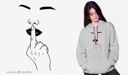 Diseño de camiseta de dedo medio