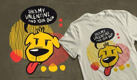 Diseño de camiseta de perro San Valentín