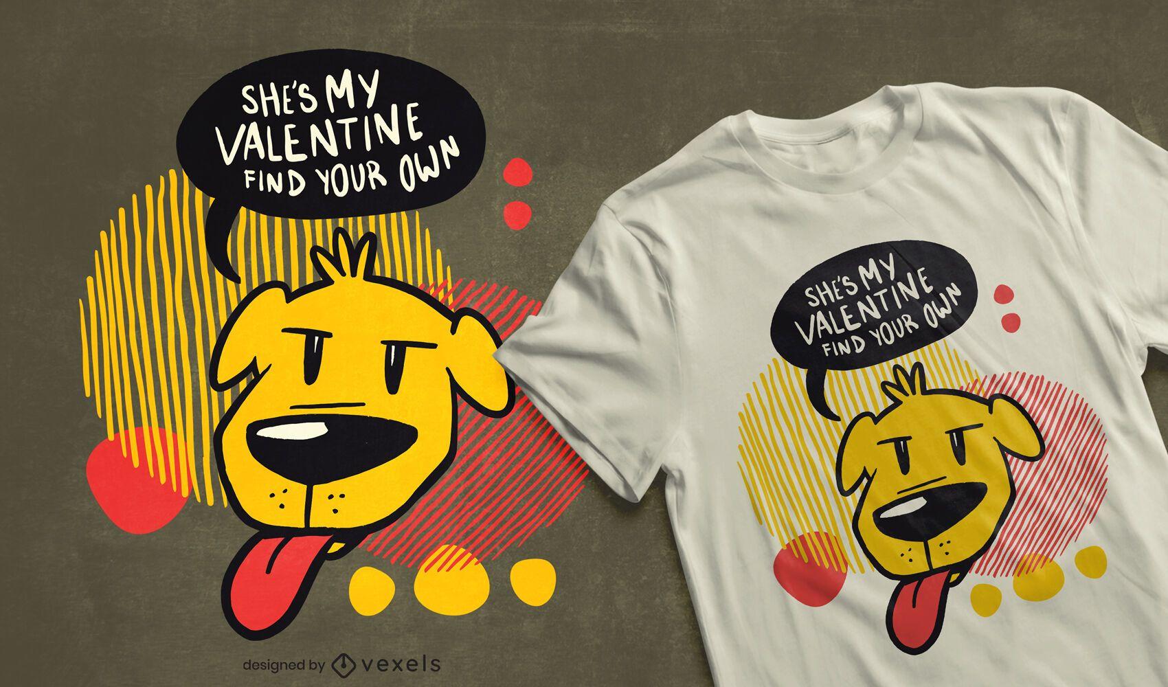 Valentine dog t-shirt design
