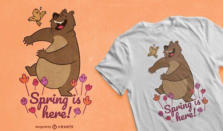 Frühling ist hier T-Shirt Design