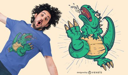Diseño de camiseta dinosaurio monstruo