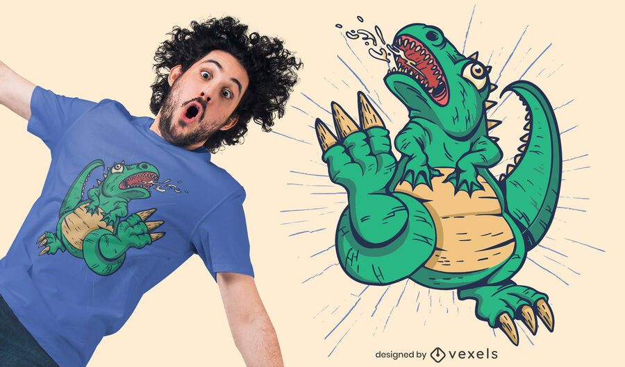Dinosaurier Monster T-Shirt Design
