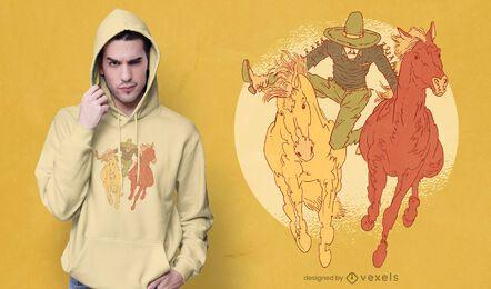 Design de camisetas mexicanas para rodeio