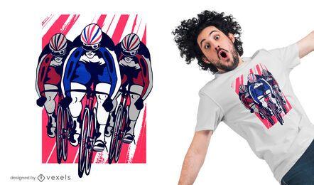 Design de camiseta de ciclista de pista