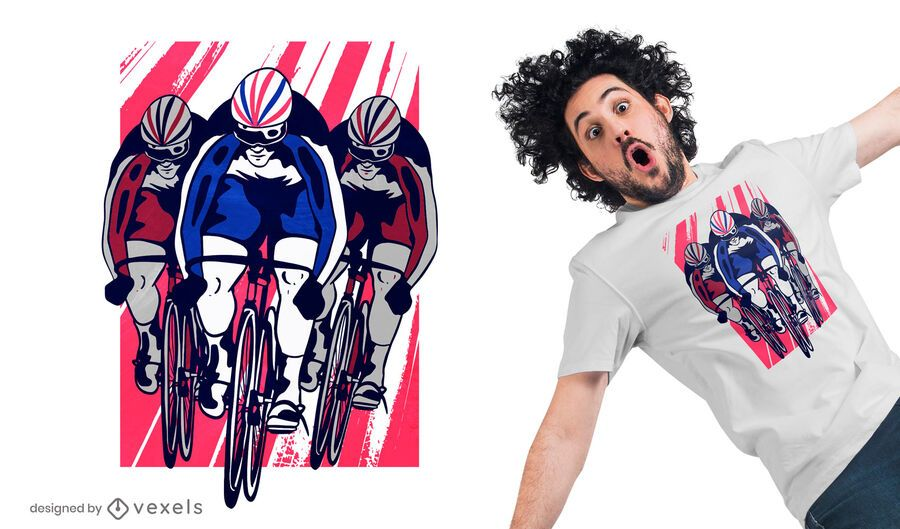 Diseño de camiseta de ciclista de pista.