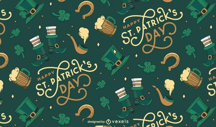 Happy st patricks day pattern design