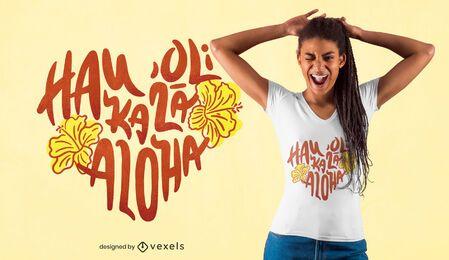 Design de t-shirt de citações havaianas dos namorados