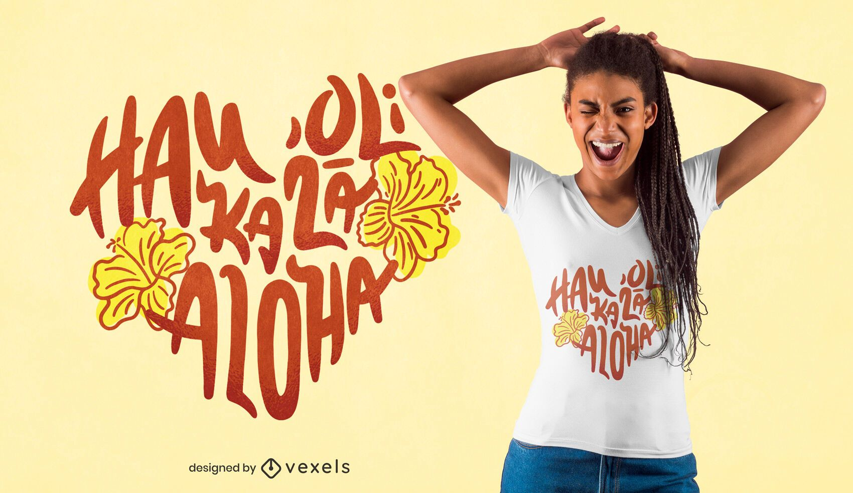 Diseño de camiseta Valentine Hawaiian quote