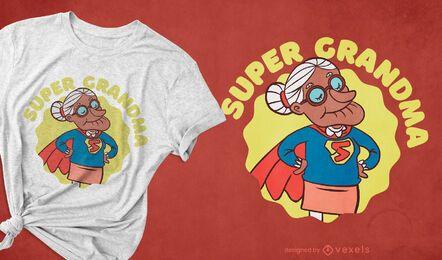 Diseño de camiseta de super abuela