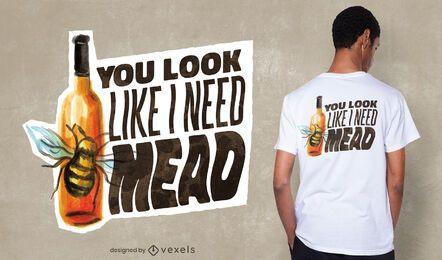 Mead Zitat T-Shirt Design
