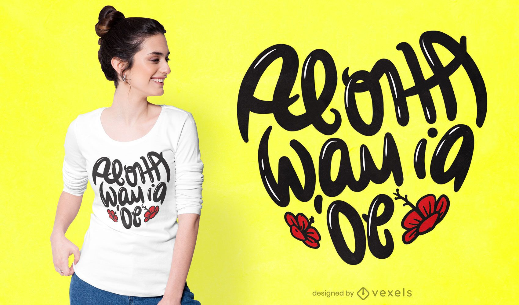 Diseño de camiseta Love Hawaiian