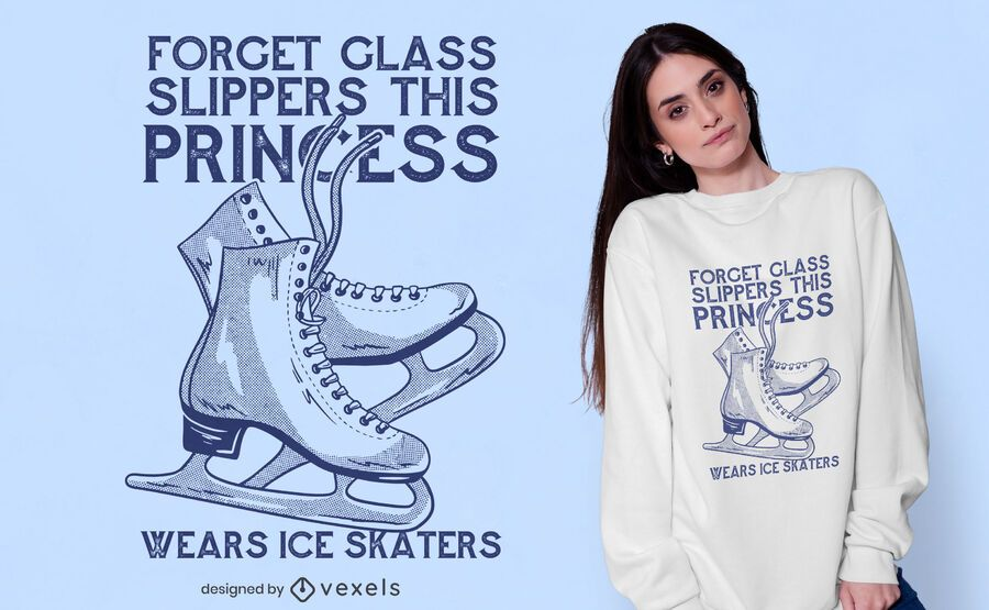 Eislaufen Prinzessin T-Shirt Design