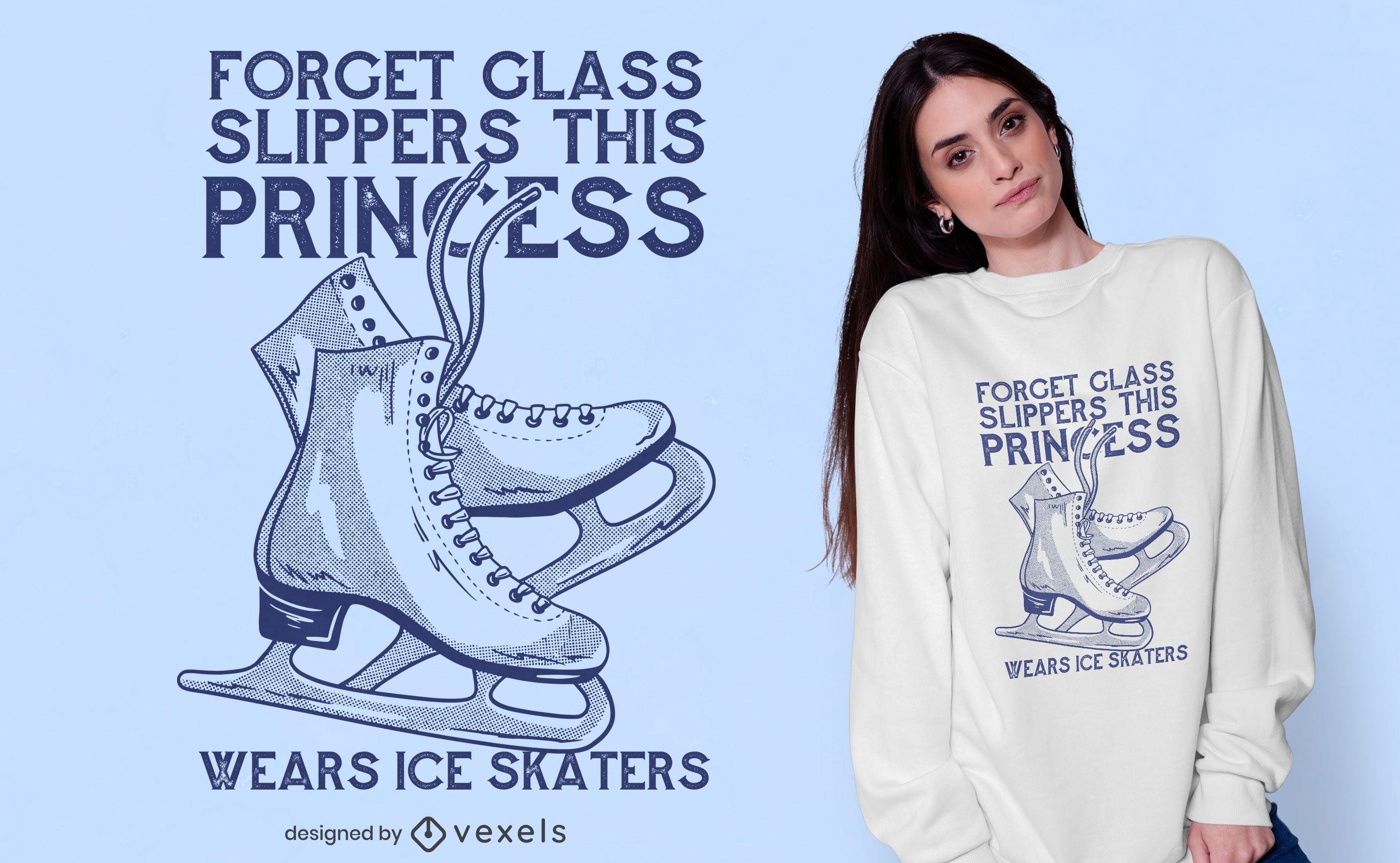 Ice skating princess t-shirt design