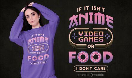 Design de camisetas para videogames de anime