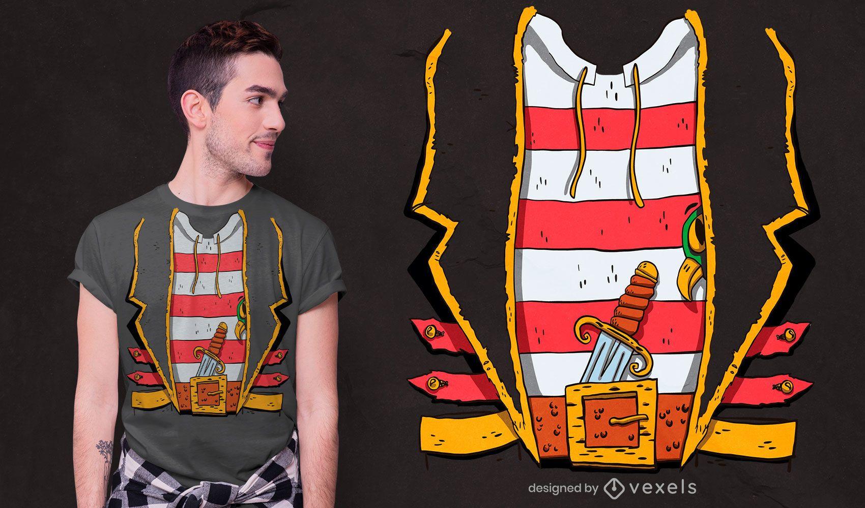 Pirate suit t-shirt design
