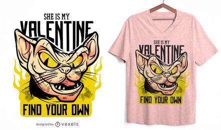 She is my valentine t-shirt design
