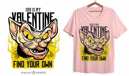 She is my valentine t-shirt design