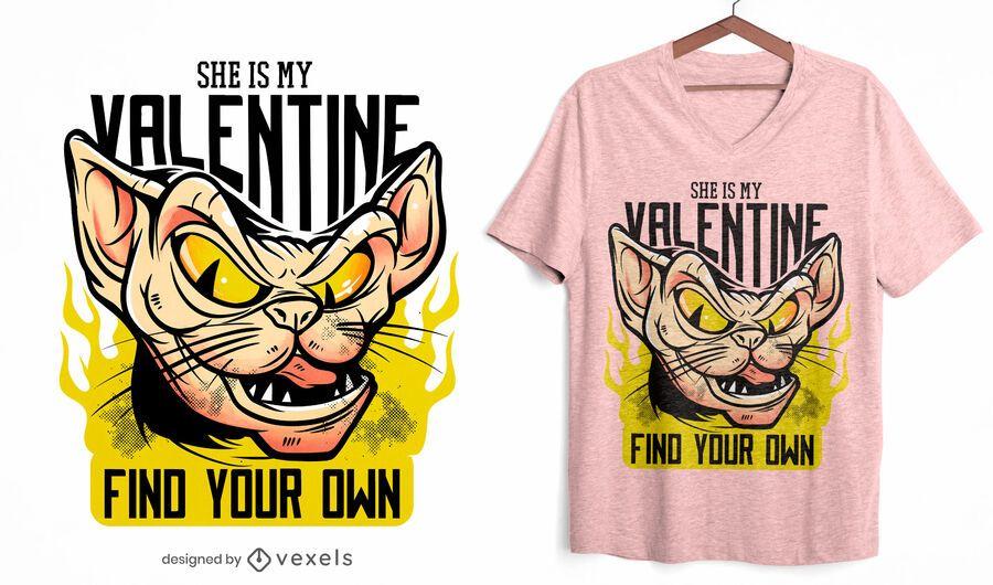 Ella es mi diseño de camiseta de San Valentín