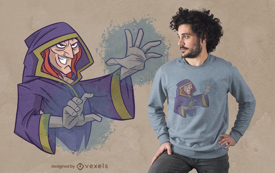 Diseño de camiseta mago mágico