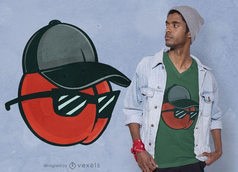 Cherry cap t-shirt design