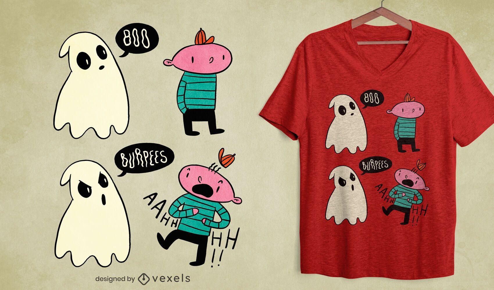 Diseño de camiseta boo burpees