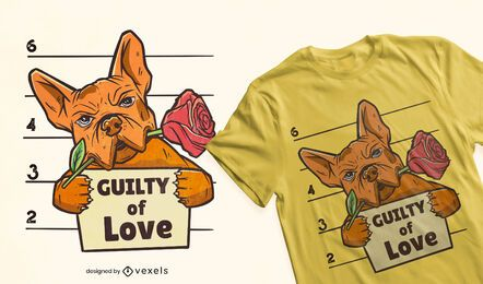 Guilty of love t-shirt design