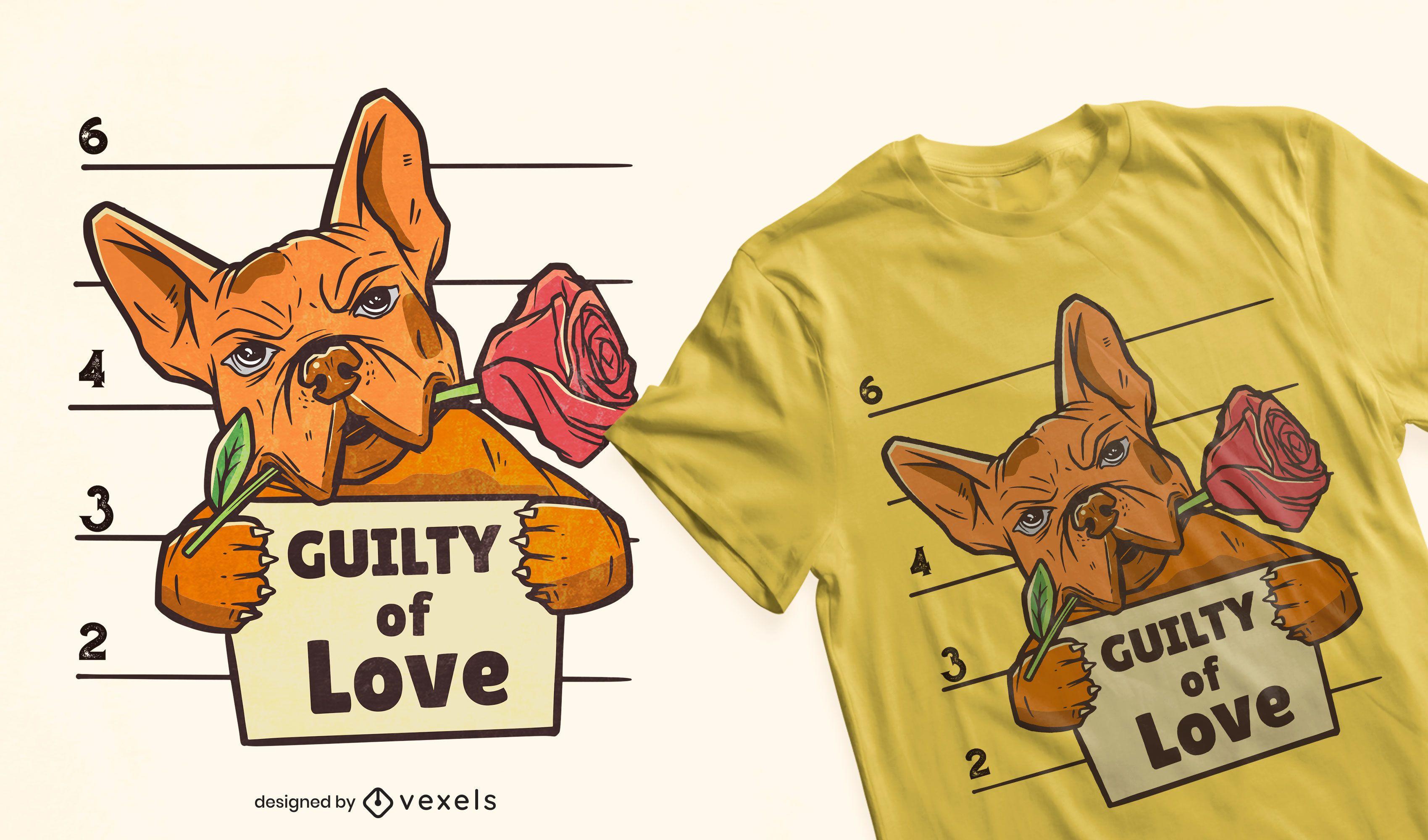 Guilty of love t-shirt design