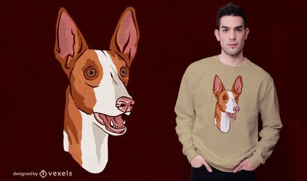 Diseño de camiseta de perro Podenco
