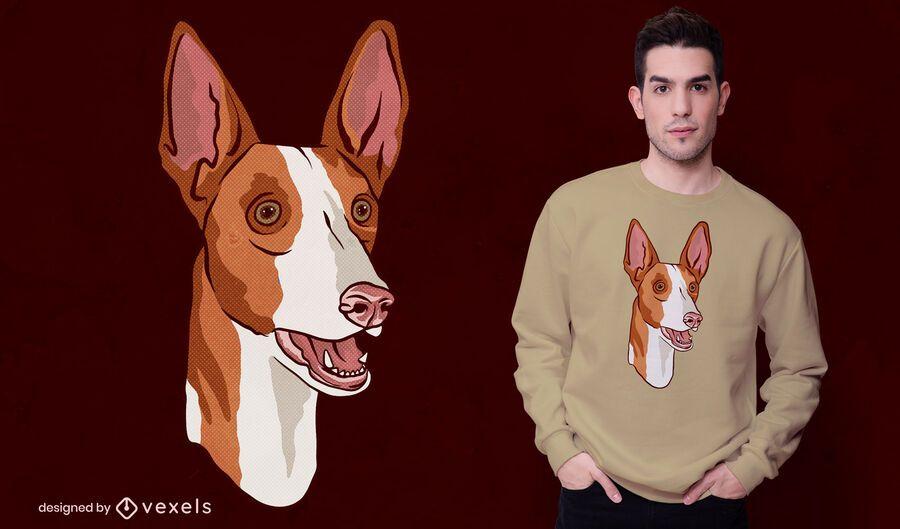Podenco dog t-shirt design