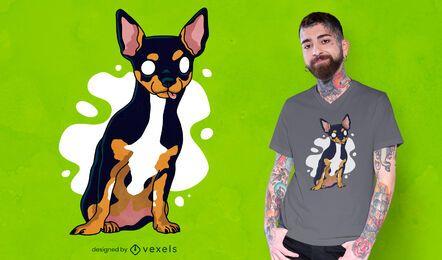 Design de camiseta para cachorro chihuahua