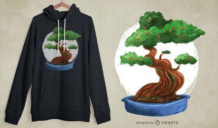 Bonsai Baum T-Shirt Design
