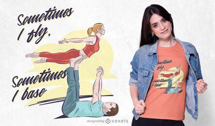 Acroyoga fly t-shirt design