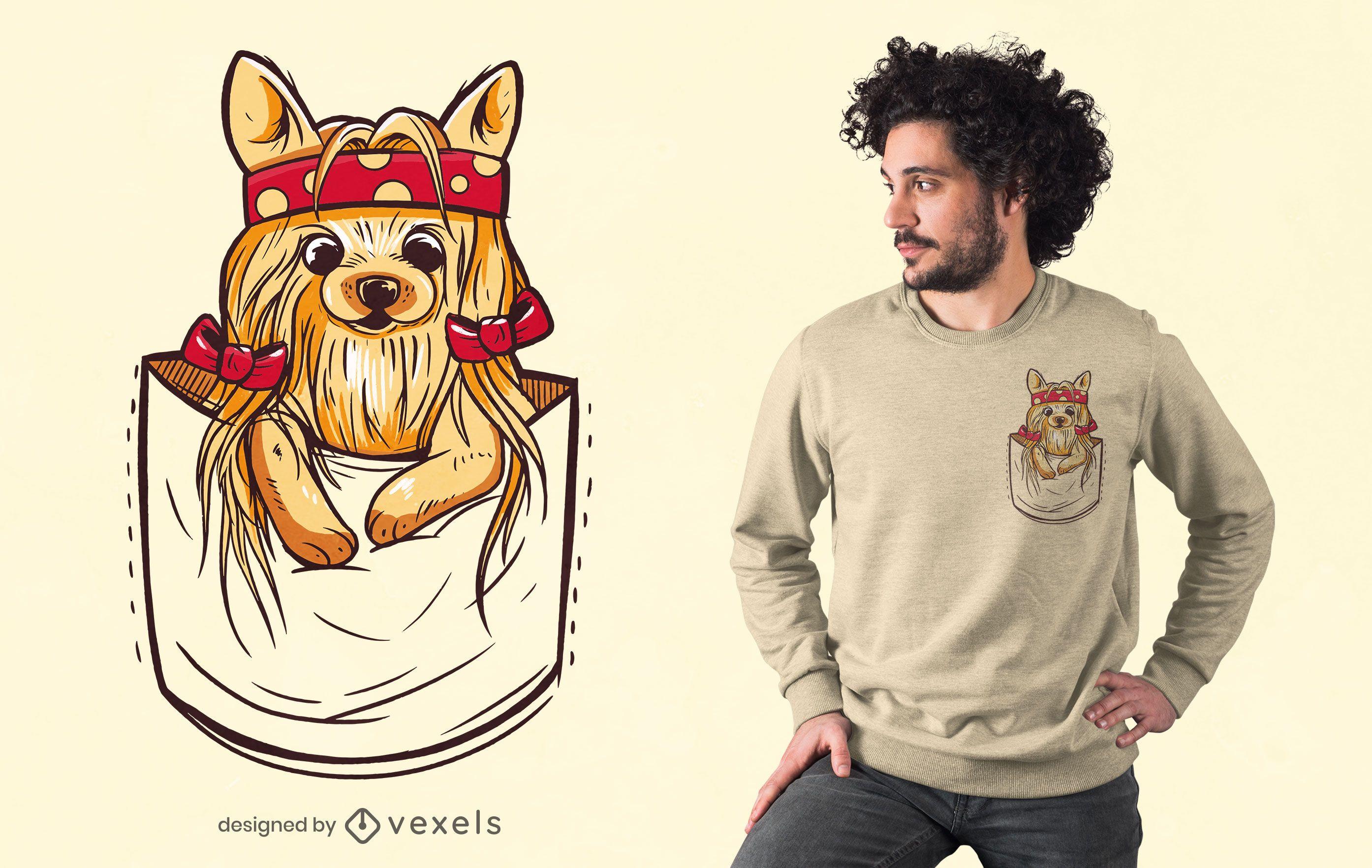 Pocket yorkshire t-shirt design